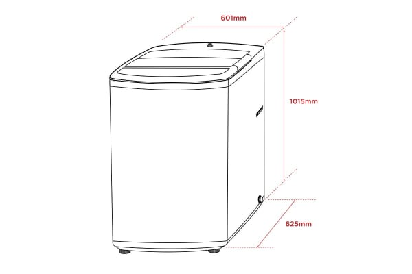 Kogan 9.5kg Top Load Washer