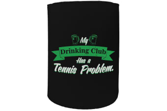 123t Stubby Holder - drinking club tennis - Funny Novelty