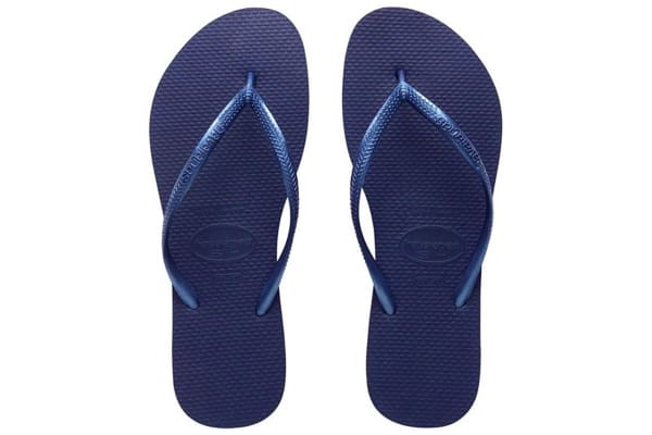Havaianas Slim Metallic Thongs (Navy Blue, Brazil 39/40)
