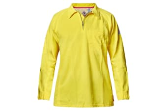 Hard Yakka Men's Bulwark iQ Flame Resistant Hi-Vis Polo (Yellow, Size 4XL)