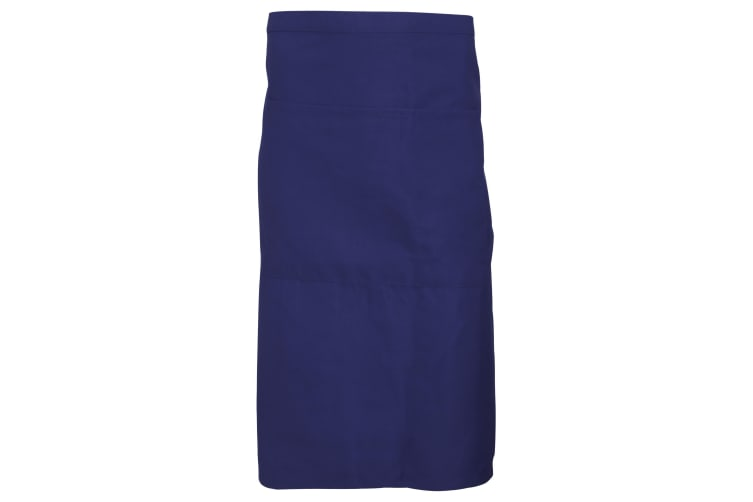 Dennys Adults Unisex Catering Waist Apron With Pocket (Navy Blue) (One Size)