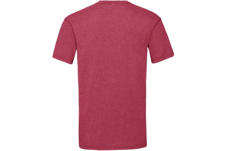 Fruit Of The Loom Mens Valueweight Short Sleeve T-Shirt (Vintage Heather Red) (3XL)