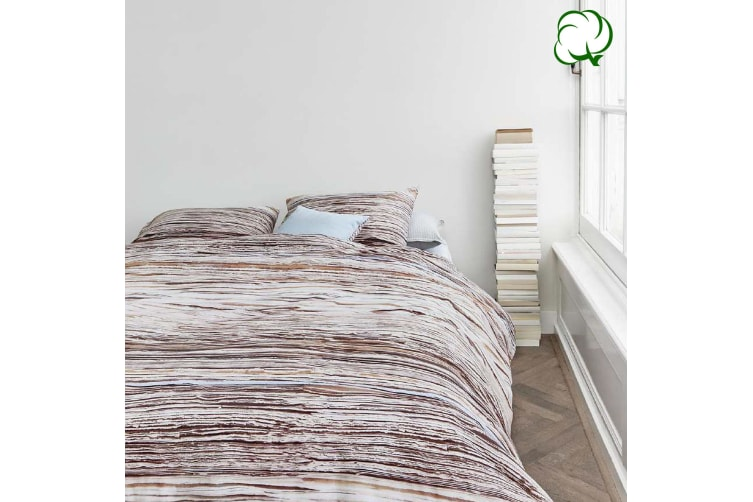 Tell Natural Quilt Cover Set Queen