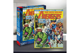 Avengers 500 Piece Puzzle | Marvel 100th Issue Comic Cover