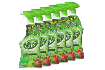 6x Pine O Cleen Crisp Apple 750mL/Multi Purpose House/Kitchen Cleaning Spray