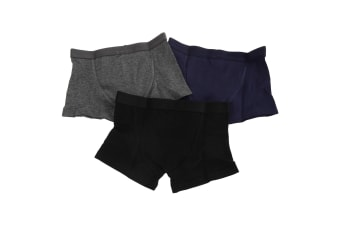 Kids By Tom Franks Boys Cotton Trunks (Pack Of 3) (Black/Navy/Grey) (5/6 Years)