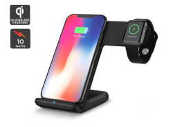Kogan Dual Fast Wireless Qi Charger (Black)