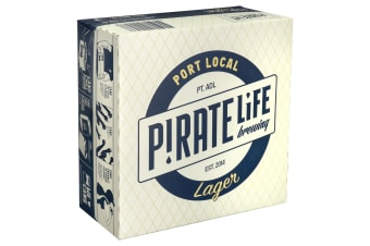 Pirate Life Port Local Lager Beer 16 x 355mL Cans