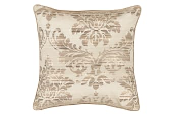Catherine Lansfield Home Glamour Jacquard Cushion Cover (Gold) (43cm x 43cm)