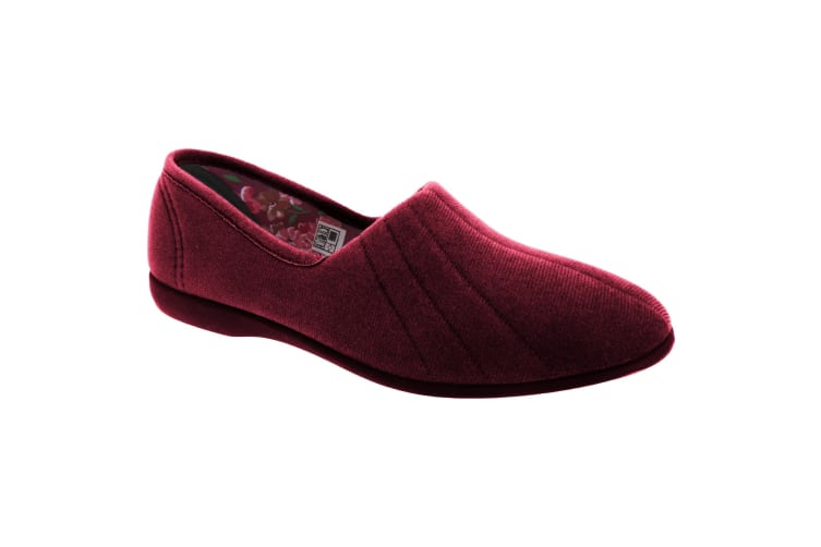 GBS Audrey Ladies Slipper / Womens Slippers (Burgundy) (5 UK)