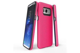 For Samsung Galaxy S8 Case  Pink Armour Protective Durable Slim Phone Cover