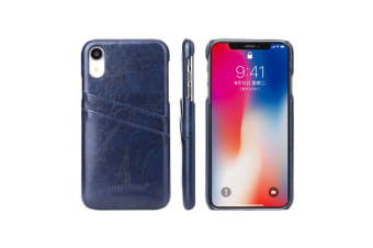 Blue Deluxe Leather For iPhone XR Case