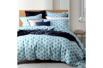 Ford Ocean Yarn Dyed Quilt Cover Set by Platinum Collection
