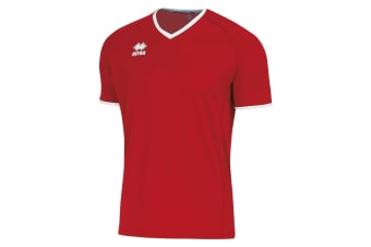 Errea Unisex Lennox Short Sleeve T Shirt (Red/White)