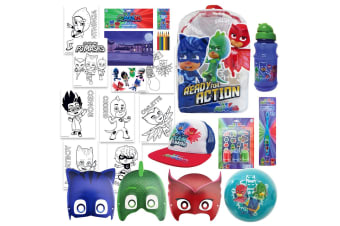 PJ Masks Kids Show Bag Backpack/Masks/Toothbrush/Ball/Stamp/Drink Bottle 3y+