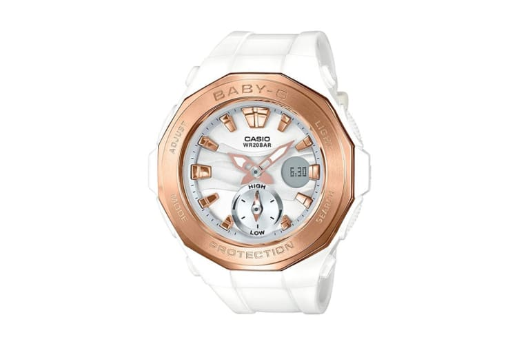 Casio Baby-G Analog Digital Female Watch Beach Glamping Series with Resin Band - White (BGA220G-7A)