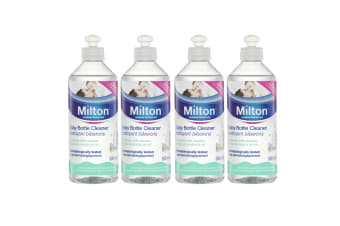 4x 500ml Milton Baby Bottle/Breast Pumps Cleaner Solution Removes Milk Residue