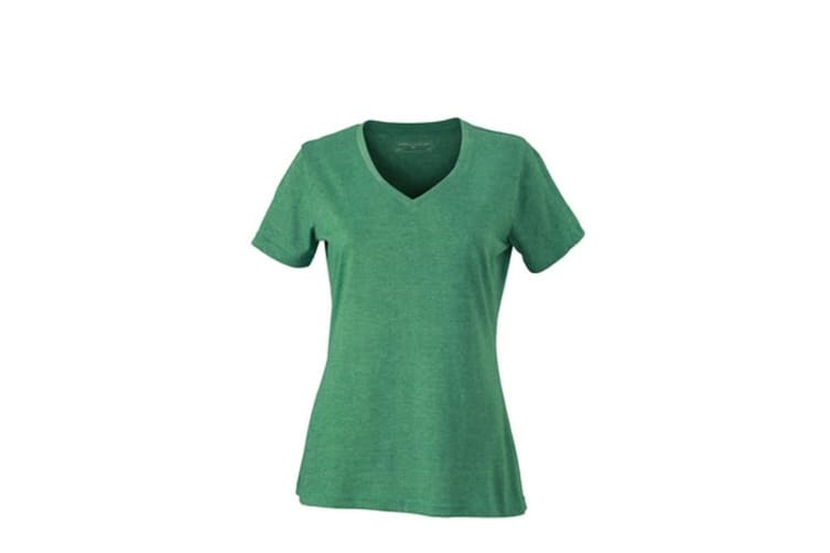 James and Nicholson Womens/Ladies Heather T-Shirt (Green Melange) (L)