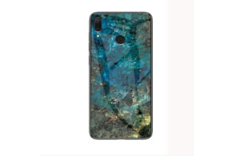Marble Glass HeavyDuty Shockproof Slim Cover for A20-Green