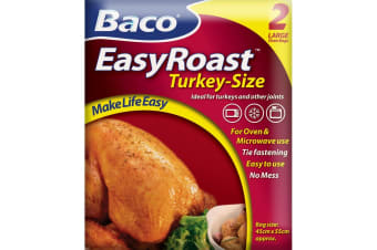 Bacofoil Turkey Roasting Bags (Pack of 2) (Clear) (45cm x 55cm)