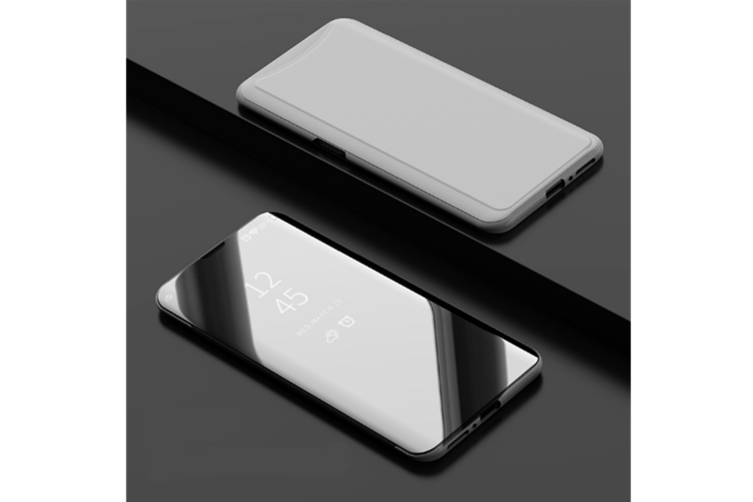 Mirror Cover Electroplate Clear Smart Kickstand For Oppo Series Silver Oppo F7