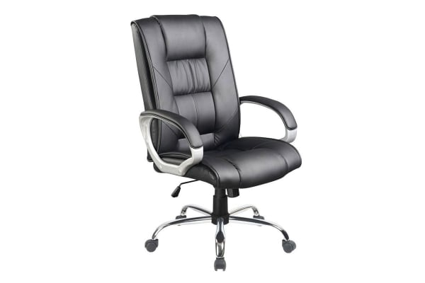 Executive Leather Look Office Chair (Black)