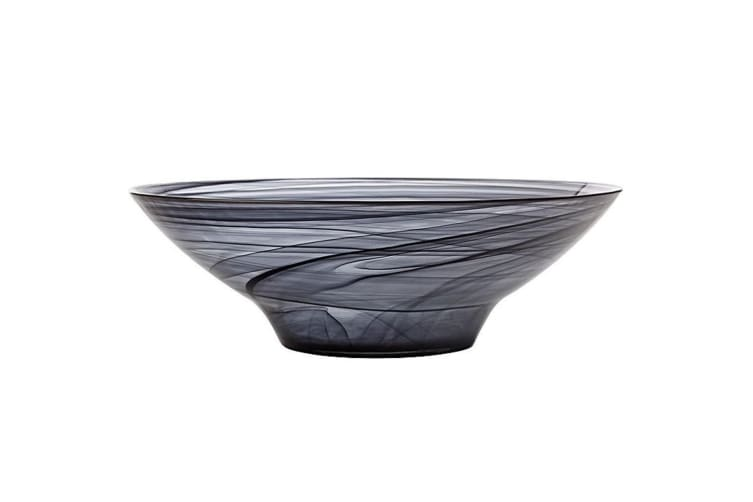 Maxwell & Williams 32cm Marblesque Serving Tableware Soup Salad Glass Bowl Black