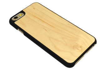 For iPhone 6S 6 Case Elegant High-Quality Maple Wooden Protective Cover Black
