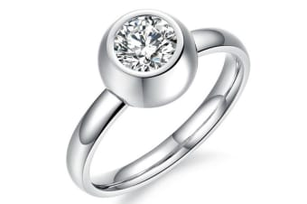 Desire 1 Carat Ring-White Gold/Clear Size US 6