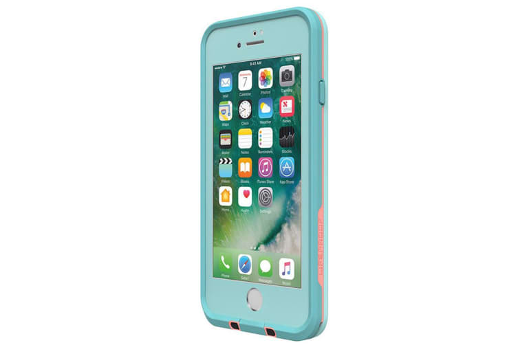 Lifeproof Fre Blue/Coral Case/Cover Waterproof Snow/Drop Proof for iPhone 7/8