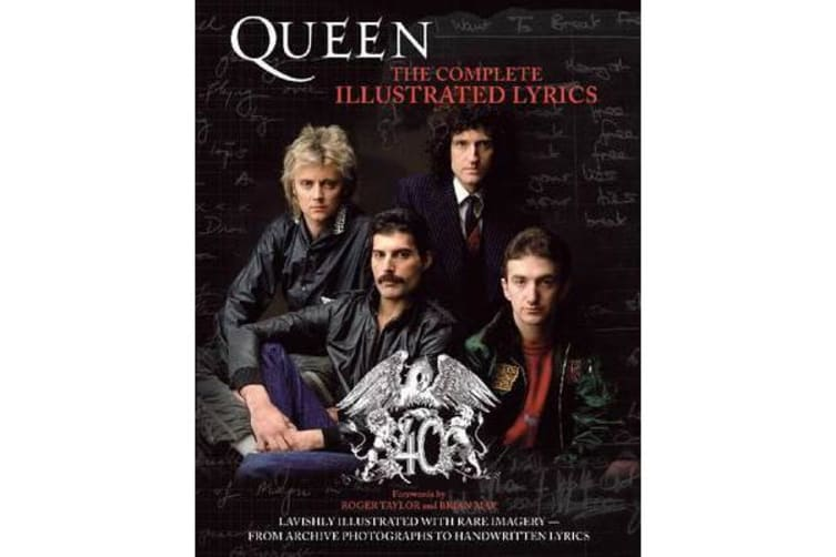 Queen The Complete Illustrated Lyrics Paperback Bam Book