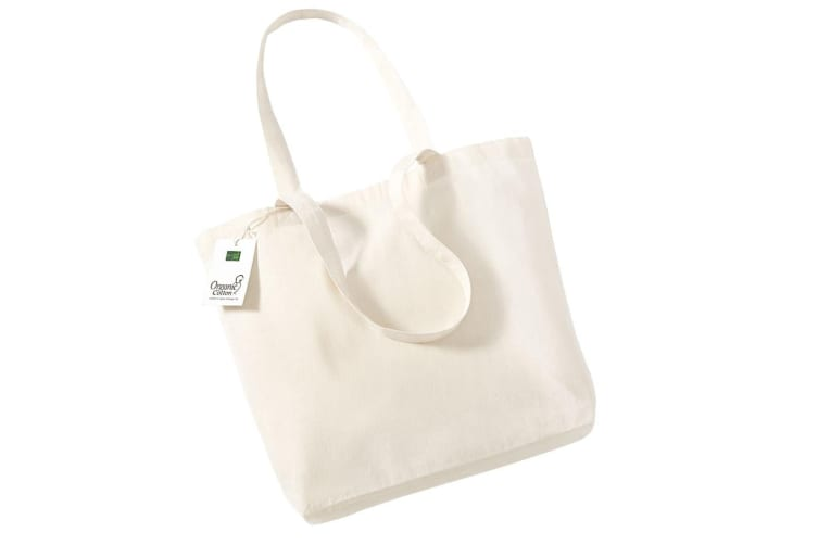 Westford Mill Organic Cotton Shopper Bag - 16 Litres (Pack of 2) (Natural) (One Size)