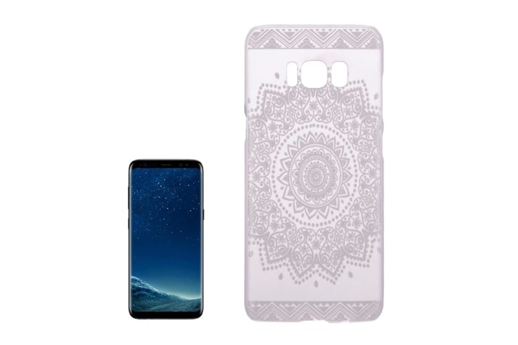For Samsung Galaxy S8 Case Beautiful Flower Mandala Transparent Cover White