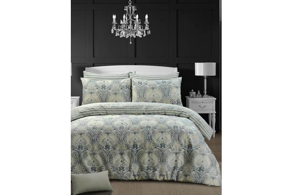 Style & Co 100 % Cotton Reversible Quilt Cover Set Super King Grandiose