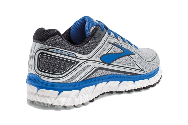 Brooks Men's Adrenaline GTS 16 Shoes (Silver/Electric Blue, Size 10)