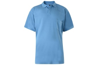 Kam Jeanswear Mens Plain Polo Shirt (Powder Blue)