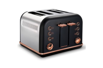 Morphy Richards 242107 Black Accents 4 Slice Toaster