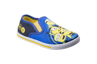 Leomil Childrens/Kids Minions Slip On Trainers (Blue/Yellow) (11.5 Child UK)