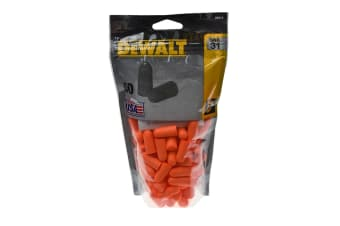 Dewalt Disposable Earplugs (50 Pairs) (Orange)