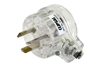 3Pin Flat Plug Top Transparent Clear/ Side Entry- Low Profile