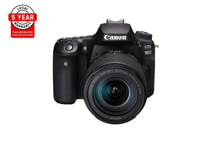 Canon EOS 90D Camera with 4K Video & EF-S 18-135mm Zoom Lens