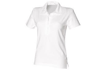 Front Row Womens/Ladies Short Sleeve Stretch Rugby Shirt (White) (XL)