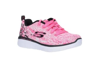 Skechers Childrens/Girls Synergy 2.0 High Spirits Lace-Up Trainers (Neon Pink/Black) (10.5 Child UK)