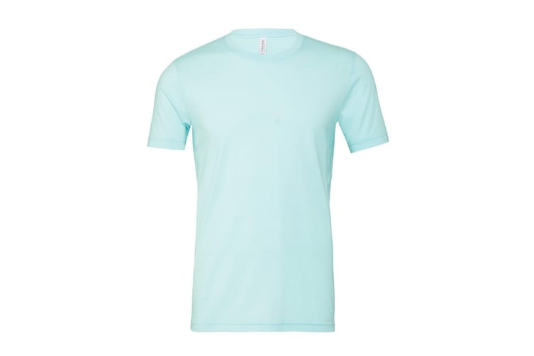 Bella + Canvas Adults Unisex Heather CVC T-Shirt (Heather Ice Blue) (M)
