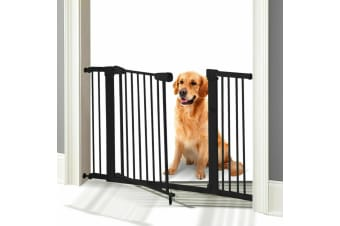 70-187cm Baby Kids Pet Safety Security Gate Wide Adjustable Stair Barrier Door