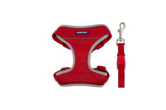 Ancol Travel Dog Harness (Red) (L)