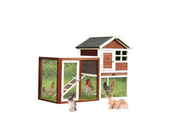 Wooden Large Chicken Coop Rabbit Hutch Hen House with Run