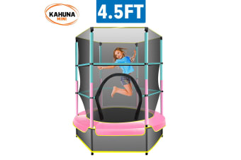 Kahuna Mini 4.5 ft Trampoline Green Pink