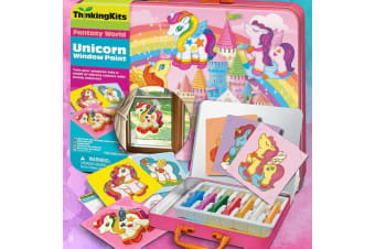 Magical Unicorns Window Decals Colourful Creations Kit | Ages 4+