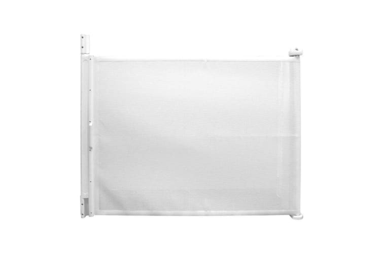 White 79cm Tall/61-107cmcm Wide Baby Door Hide-away Gate/Pet Dog Barrier/Safety
